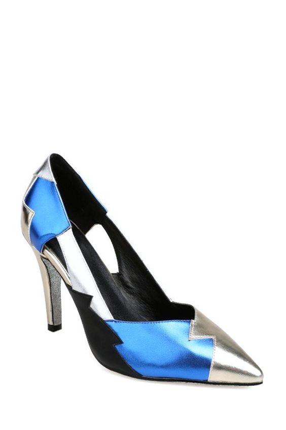 Color Block Pointed Toe Stiletto Heel Pumps - http://www.musteredlady.com/color-block-pointed-toe-stiletto-heel-pumps/  .. http://goo.gl/FNpudS    MusteredLady.com