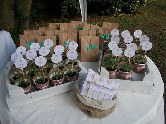 Souvenir plantas bautismo primer a o ideas para - Floreros modernos ...
