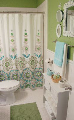 green and blue bathroom and notice the storage i think a small bookcase bathroom ideas. Black Bedroom Furniture Sets. Home Design Ideas