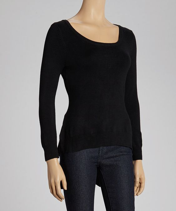 Take a look at this Black Tuxedo Hem Top on zulily today!