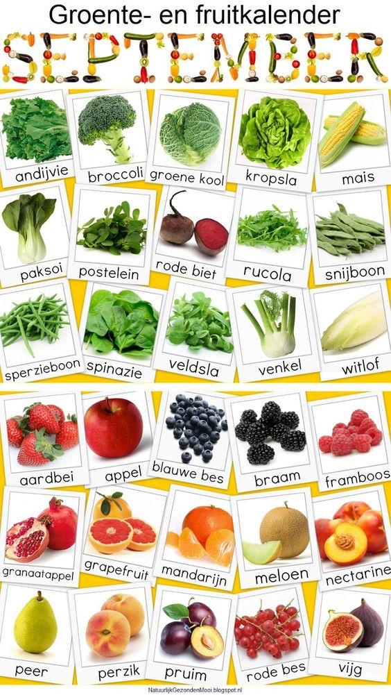fruitkalender augustus
