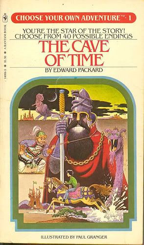 Choose Your Own Adventure books. Pick the start and each choice influenced the ending.