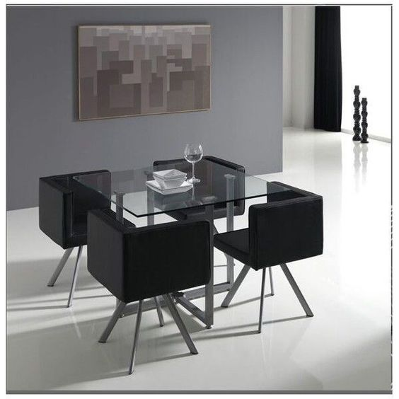 Conjunto de sillas y mesas mod oregon ocupando poco - Decoracion para comedor ...