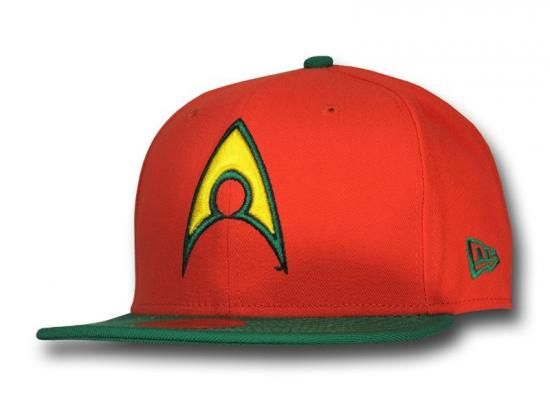 Aquaman Symbol Orange 59Fifty Fitted Baseball Cap by DC COMICS x ...