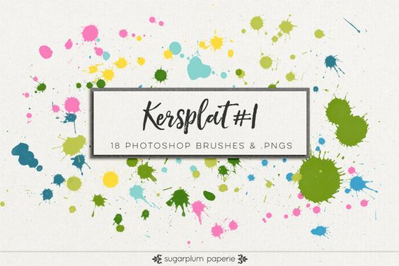 Kersplat #1 : Brushes by Sugarplum Paperie on @creativework247