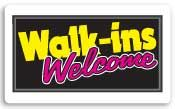 Everbrite Walk-Ins Welcome Lightbox Sign