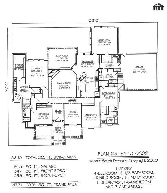 3248 0609 Square Feet Narrow Lot House Plan Narrow Lot House Plans Bedroom House Plans House Plans