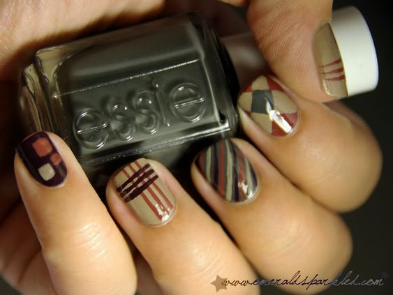 Designs made with the Essie Fall 2011 collection.