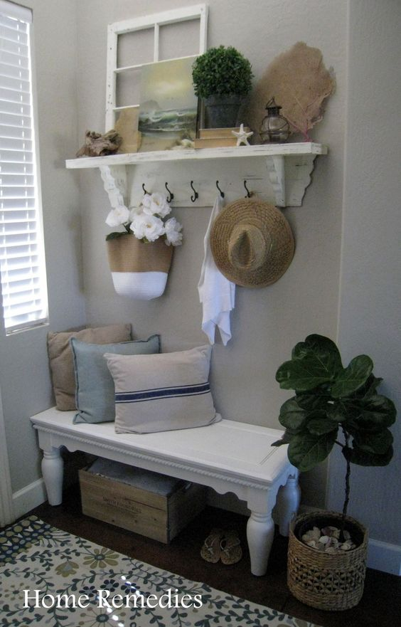 summer entryway reveal done on a budget home decor ideas