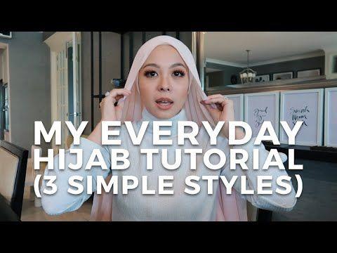 My Everyday Hijab Tutorial 3 Simple Styles Vivy Yusof Youtube Hijab Tutorial Hijab Style Tutorial Simple Style