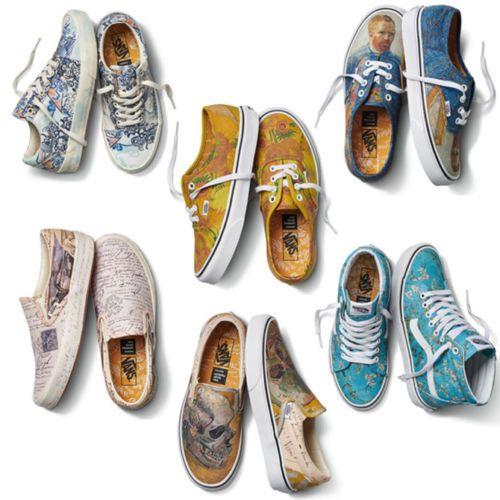Vans X Vincent Van Gogh Museum Authentic Slip On Sk8 Hi Old Skool Shoes Pick 1 Vans Shoes Painted Canvas Shoes