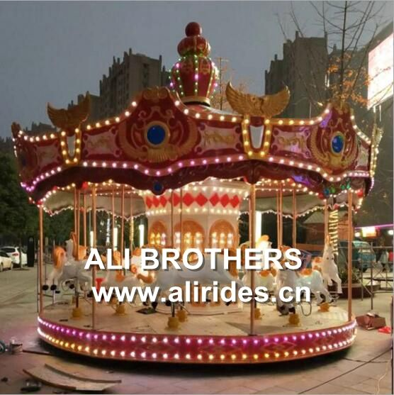 Luxury 24 Seats Indoor Carousel Rides For Sale