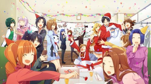 Christmas Party Hd Wallpaper Anime Anime Picture Art Background wallpaper anime christmas