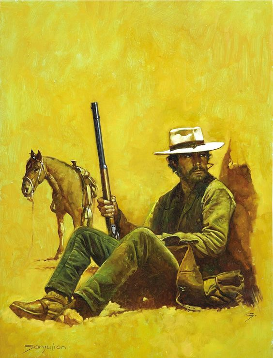 Western Book Cover Art : Western painting manuel perez clemente