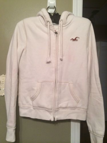 Hollister Womans Cream Colored Hoodie Size Large