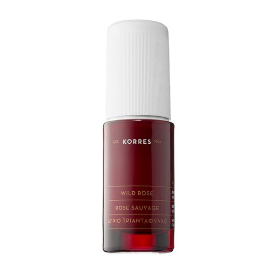 Normal This natural rose serum with vitamin C brightens, evens and smooths skin. Wild Rose Face and Eye Serum, Korres $45