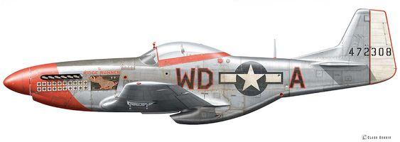 "North American P-51D Mustang Flown by Major Pierce ""Mac"" McKennon, 4th FG, 335th FS, Debden/England, Spring 1945. © Claes Sundin 2014"