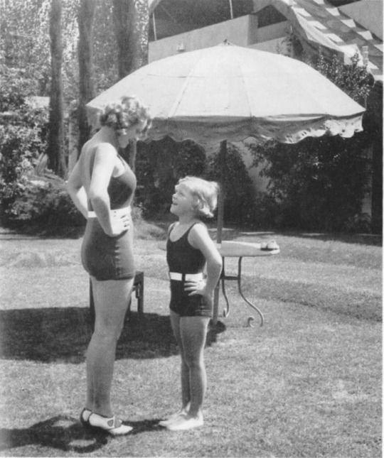 Marlene Dietrich and her daughter Maria, 1931. Snapshot taken by Joseph von Srernberg.