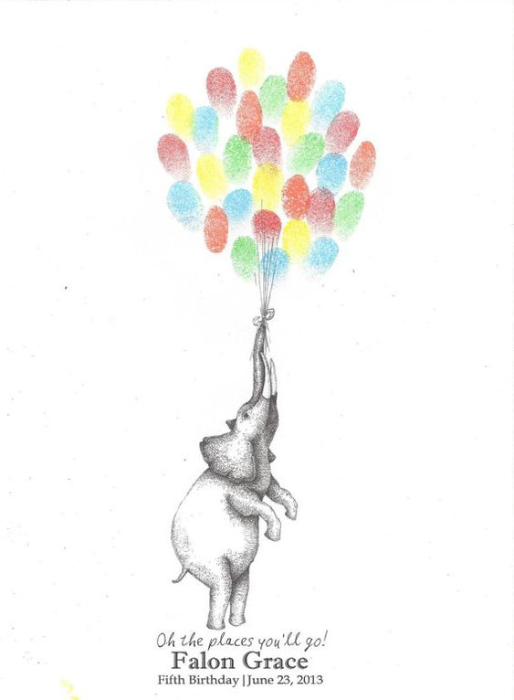 Elephant Holding A Bundle Of Balloons In His Trunk