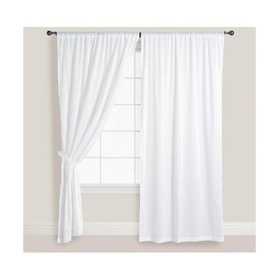 Curtains Ideas cost plus curtains : Cost Plus World Market White Cotton Voile Curtains ($30) ❤ liked ...