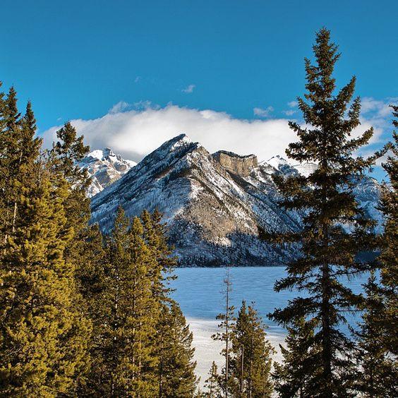 Beautiful Lake Minnewanka in Banff by Christopher J. Martin