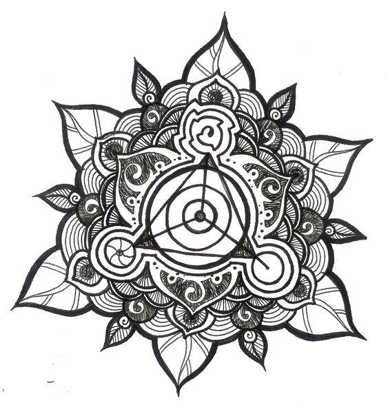 mandala based pattern.  This would make a beautiful tattoo