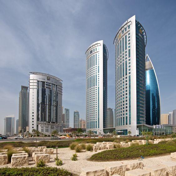 Al Fardan towers in Doha, Qatar. Photo by James Duncan Davidson.