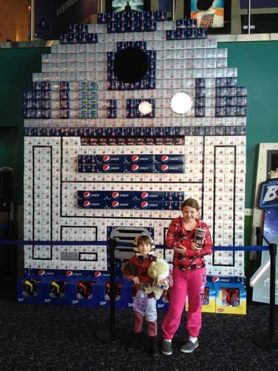 Giant Pepsi R2-D2 display
