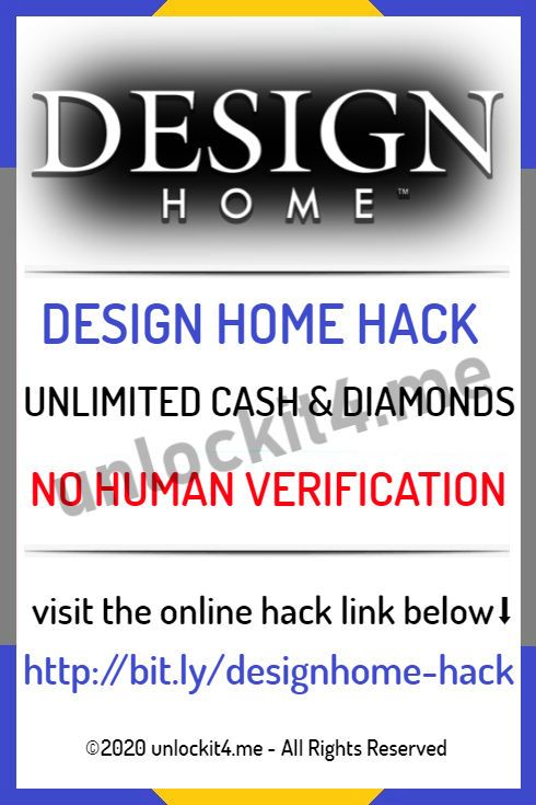 Generator Design Home Unlimited Cash And Diamonds No Human Verification 2020 Design Home App Design Home Hack House Design Games