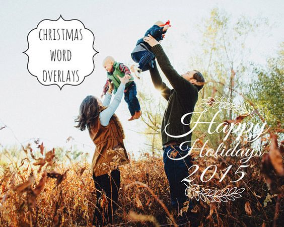 6-Weihnachten-Overlays in Word von PixelPixieStudio auf Etsy