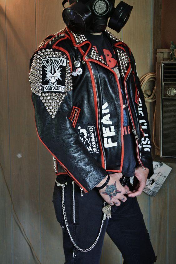 Punk leather jacket | jacket | Pinterest | Leather jackets