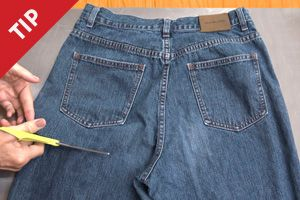 How to Recycle Jeans into a Garden Apron