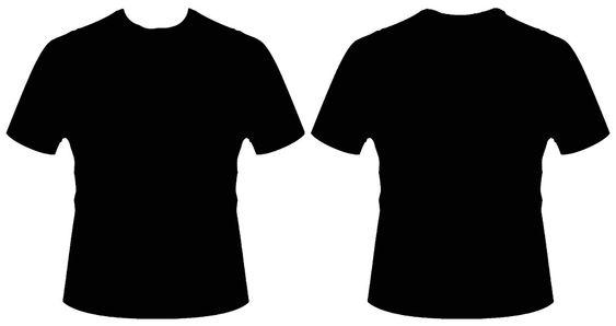 Baju Kaos Hitam Polos Lengan Panjang Depan Belakang