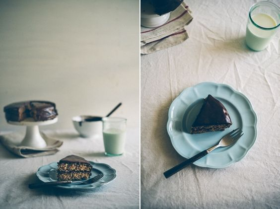hazelnut meal and chocolate cake (gluten free) from @Peter G