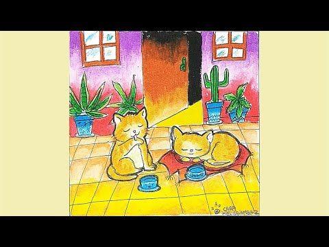 Cara Menggambar Dan Mewarnai Kucing Lucu Dengan Gradasi Warna