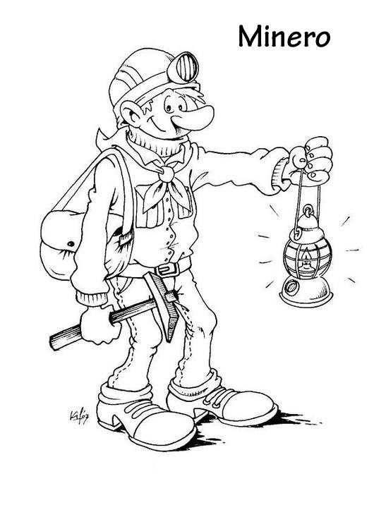 Minero Dibujos Trabajos Y Profesiones Paginas Para Colorear Dibujos Para Colorear Dibujos