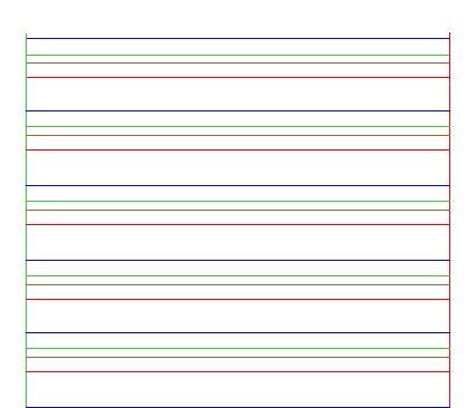 Feuille 4 lignes pour dyspraxique, dysgraphique,.