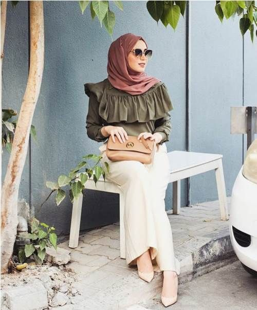palazzo pants with hijab-Fashion winter coats and jackets with hijab – Just Trendy Girls