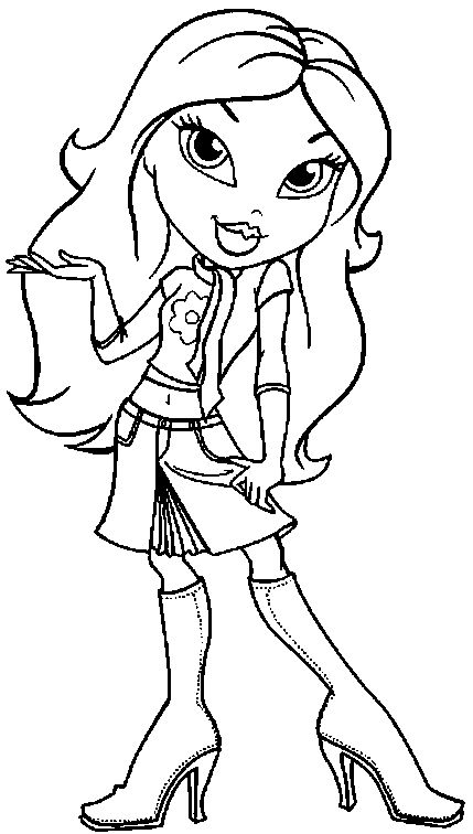 bratz and boots coloring pages - photo #12