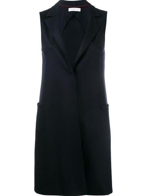 HARRIS WHARF LONDON sleeveless coat. #harriswharflondon #cloth #coat