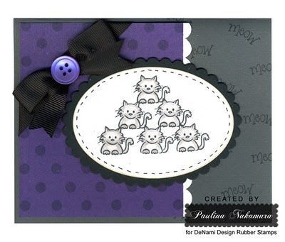 DeNami Cuddly Cats card