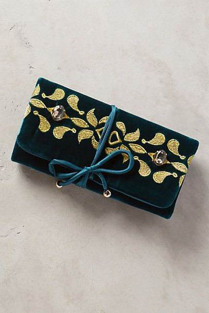 Manika Velvet Jewelry Roll - anthropologie.com