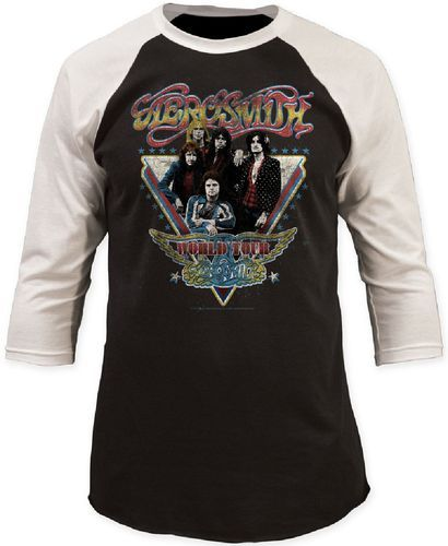 Vintage Aerosmith concert t-shirts are here at Rocker Rags! Click now to find unisex Aerosmith World Tour baseball jerseys. Free Shipping!