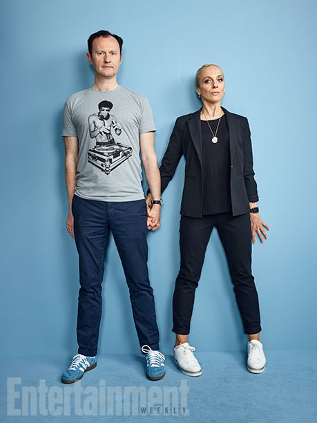 Comic-Con 2016 Star Portraits: Day 3 | Mark Gatiss and Amanda Abbington 'Sherlock' | EW.com