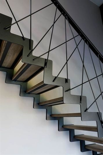 11 Irresistible Industrial Lighting Interior Ideas Stair | Industrial Stair Railing Design | Industrial Style | All Metal Interior | Contemporary Metal | Small Stair | Detail Industrial