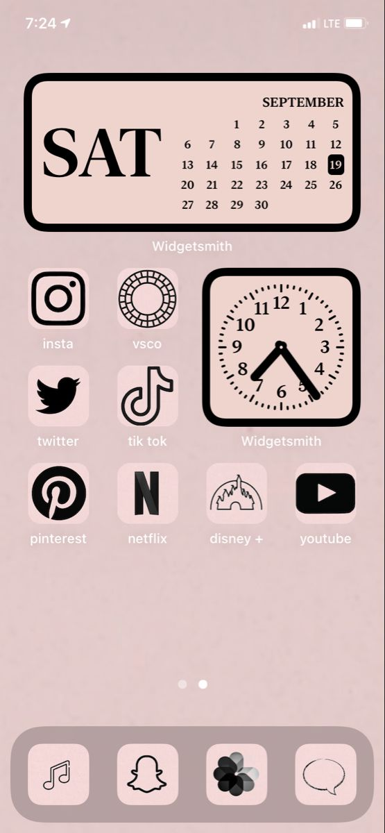 Ios 14 Pale Pink Homescreen Inspo Iphone Background Wallpaper Aesthetic Iphone Wallpaper Cute Emoji Wallpaper