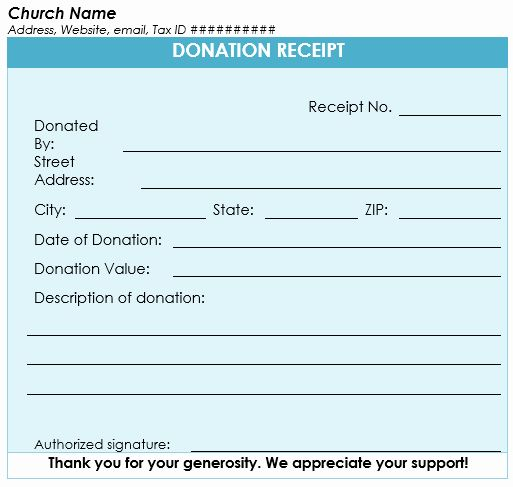 Church Donation Receipt Template Luxury Donation Receipt Template 12 Free Samples In Word And Excel Receipt Template Free Receipt Template Invoice Template