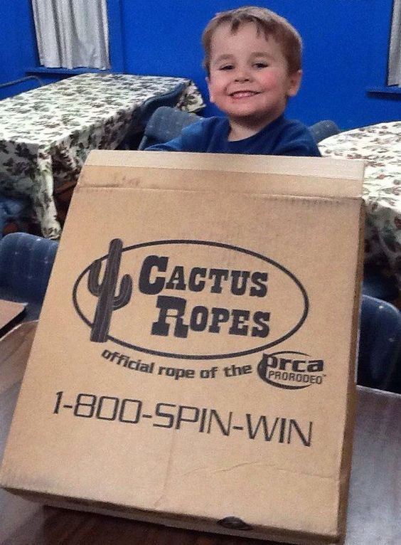 Colton with his first sponsorship package