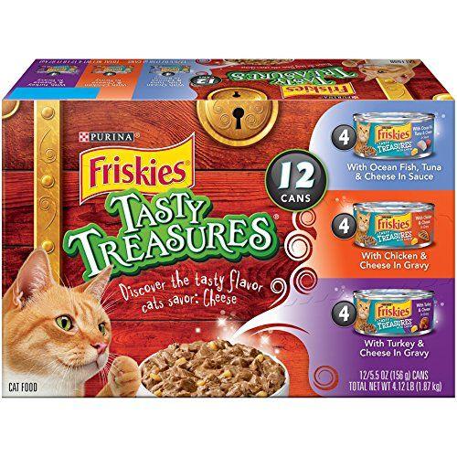 Friskies Purina Tasty Treasures Variety Pack Cat Food Cans Cat Food Purina Friskies Canned Cat Food