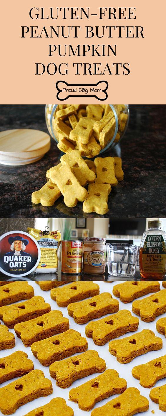 Peanut Butter Pumpkin Gluten-Free Dog Treats | DIY Dog Treats | Homemade Dog Biscuits |